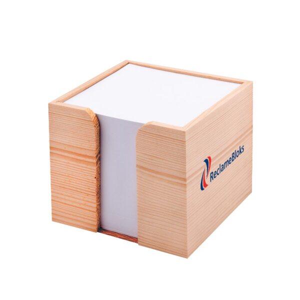 Houten houder kubusblok