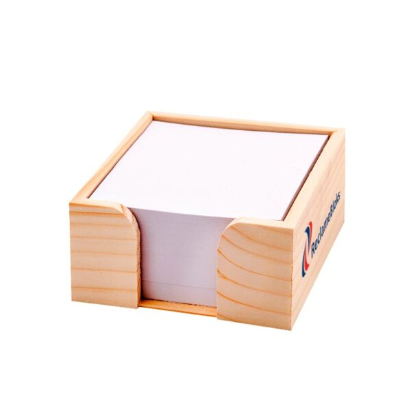 Kleine houten memohouder