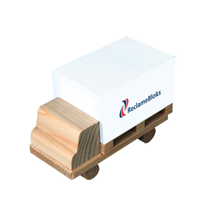 Houten vrachtwagen memoblok