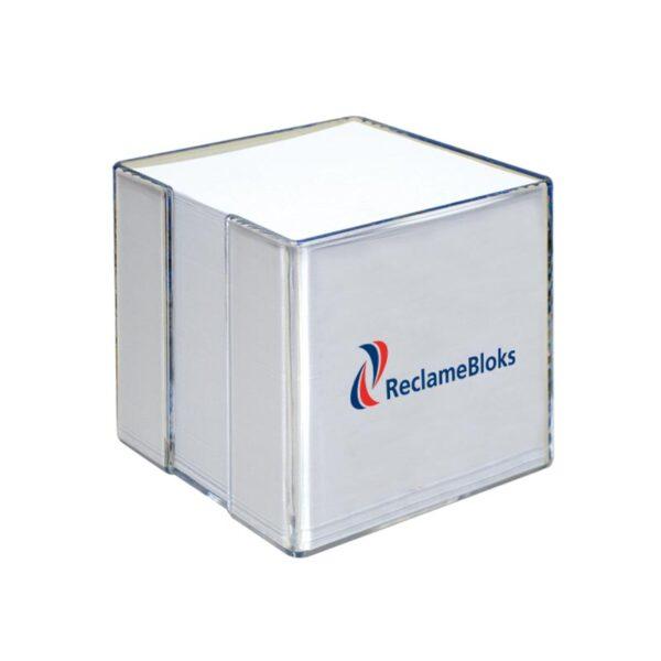 kubusblok met houder transparant