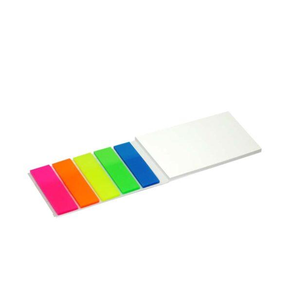 5 kleuren pagemarker met memoblokje